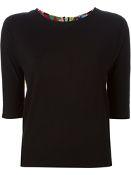 Labour Of Love 'The Kimono' Plain Back Short Sleeve Top Black