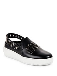 Mcq By Alexander Mcqueen Embellished Slingback Platform Sneakers Black