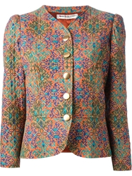Yves Saint Laurent Vintage Printed Quilted Jacket Multicolour