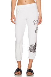 Lauren Moshi Nyc Girl Alana Crop Sweatpant White