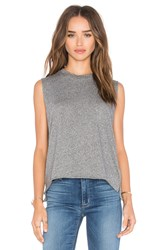 Michael Lauren Dom Vintage Crop Muscle Tank Gray