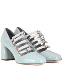 Miu Miu Patent Leather Pumps Blue
