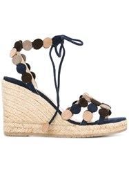 Paloma Barcelo Wedge Sandals Blue