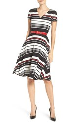 Gabby Skye Women's Stripe Fit And Flare Dress