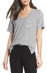 Make Model Women's Cozy V Neck Tee Grey Flannel Marl