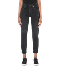 Citizens Of Humanity Liya Straight High Rise Jeans Distressed Outsider