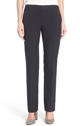 Halogenr Petite Women's Halogen 'Taylor Ela' Straight Leg Suit Pants Navy Midnight