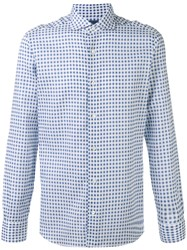 Barba Checked Shirt Blue