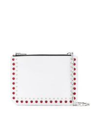 Mcq By Alexander Mcqueen Studded Cross Body Bag White