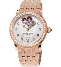 Frederique Constant Fc310whf2pd4b3 Automatic World Heart Federation Plated Stainless Steel Watch Mother Of Pearl