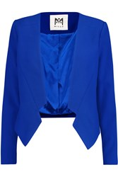 Milly Cropped Crepe Blazer Blue