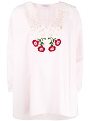 Vivetta Embroidered Floral Neckline Blouse 60