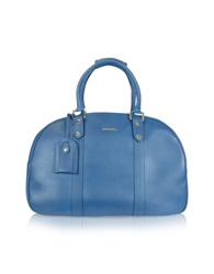 Moreschi New Boston Leather Travel Bag Blue