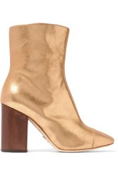 Brother Vellies Bianca Metallic Brushed Leather Ankle Boots Gold
