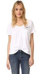 Sundry Loose Tee With Pocket Star White