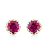 Theo Fennell Ruby Chinese Blossom Bud Earrings