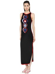 Fendi Heart Intarsia Sleeveless Knit Dress