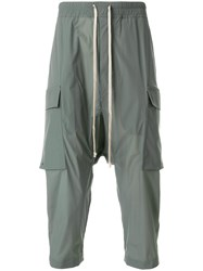 Rick Owens Drawstring Cargo Cropped Trousers Green