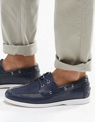 Asos Boat Shoes In Navy With White Sole Navy