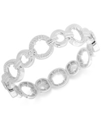 Nine West Textured Link Stretch Bracelet Silver