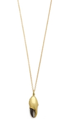 Monserat De Lucca Cancer Zodiac Necklace Gold