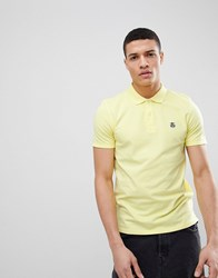 Selected Homme Polo With Badge Yellow Iris