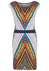 Smash Brody Jersey Dress Turquoise Multicoloured