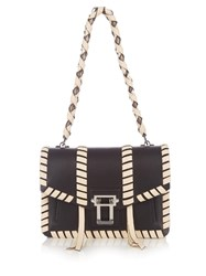 Proenza Schouler Hava Leather Shoulder Bag Black Cream