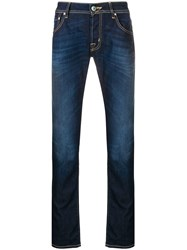 Jacob Cohen Stonewashed Straight Leg Jeans Blue