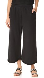 Alexander Wang T By Cropped Wide Leg Sweatpants Black