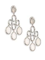 John Hardy Bamboo White Moonstone And Sterling Silver Chandelier Earrings