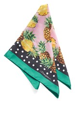 Dolce And Gabbana Printed Scarf Green