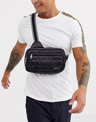 New Look Cross Body Bag In Quilted Black