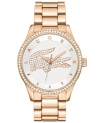 Lacoste Watch Women's Victoria Rose Gold Ion Plated Stainless Steel Bracelet 40Mm 2000828