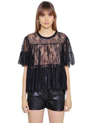 Philosophy Di Lorenzo Serafini Gathered Sheer Lace Top