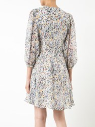 Derek Lam Splatter Print Flared Dress Women Silk 40 White