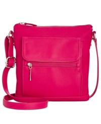 Giani Bernini Nappa Leather Venice Crossbody Only At Macy's Raspberry