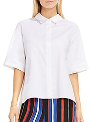 Vince Camuto Elbow Sleeve Oversized Button Down Shirt Ultra White
