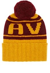 The Elder Statesman X Nba Women's Cavs Cashmere Pom Pom Beanie Yellow