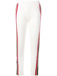 Allude Striped Design Track Trousers White