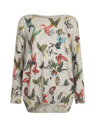 Mela Loves London Butterfly Jumper Grey