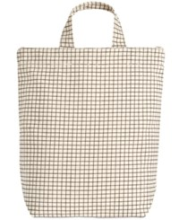 Baggu Duck Canvas North South Tote Natural Grid