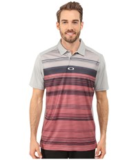 Oakley Bradley Polo Stone New Crimson Men's Short Sleeve Pullover