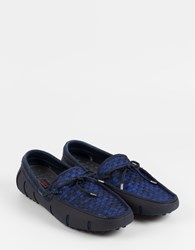 Swims Lace Loafer Woven Navy