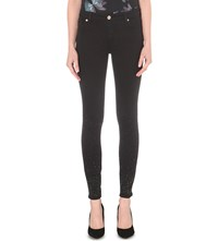 Ted Baker Embellished Straight Mid Rise Jeans Black