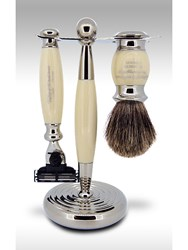 Taylor Of Old Bond Street Pure Mach3 Edwardian Shaving Set In Imitation Ivory Neutral