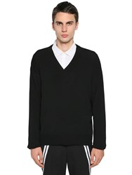 Neil Barrett Boxy Nylon And Viscose Knit Sweater Black