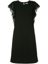 Guild Prime Leopard Print Trim Dress Black