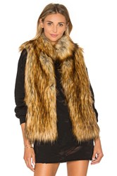 Bb Dakota Colton Faux Fur Vest Tan