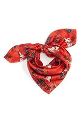 Vetements Logo Silk Scarf Red Spiderman